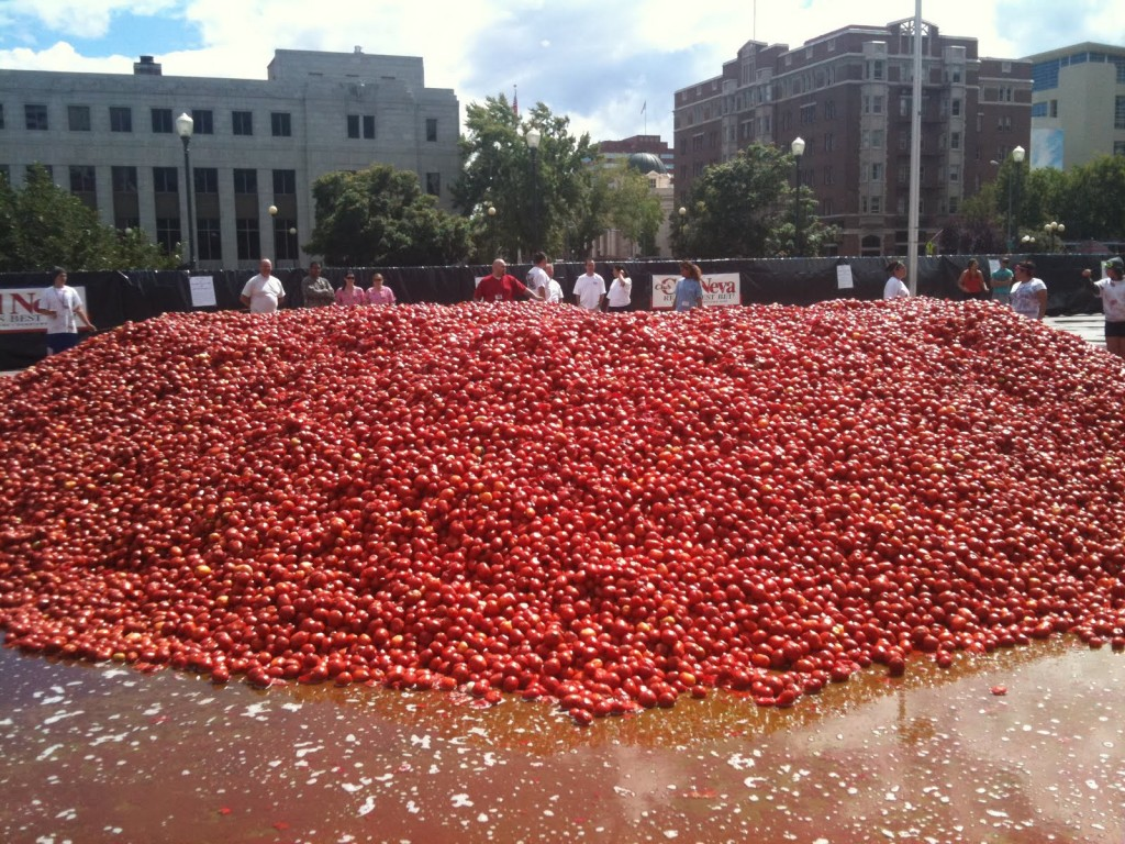 90,000 pounds of tomatoes